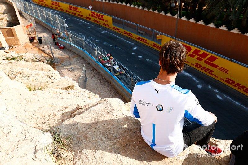 Antonio Felix da Costa, BMW I Andretti Motorsports, observa el test