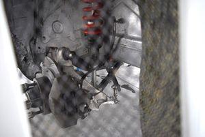 Alfa Romeo Giulietta TCR, dettaglio dell'ammortizzatore