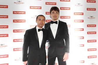 Nicolas Todt with Ferrari F1 driver Charles Leclerc