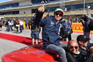 Sergio Perez, Racing Point Force India F1 Team tijdens de rijdersparade