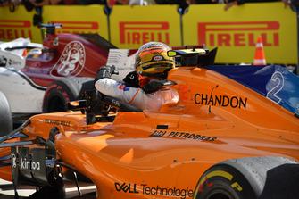 Stoffel Vandoorne, McLaren in parc ferme