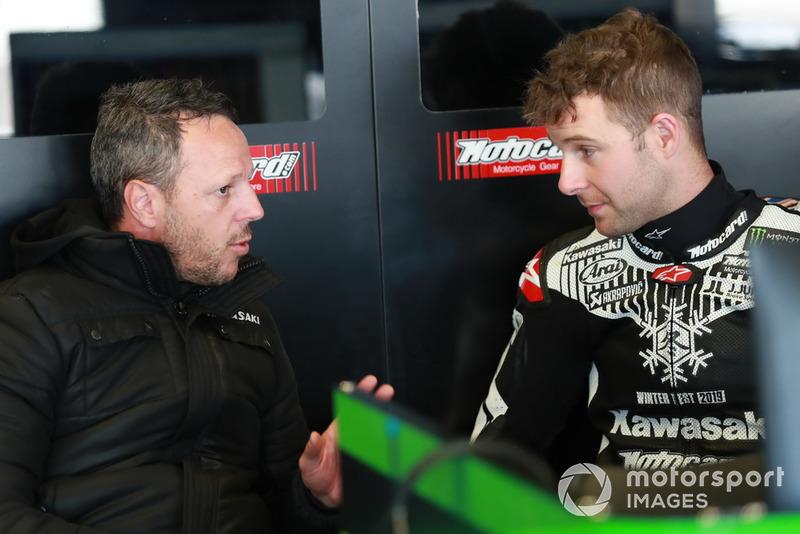 Jonathan Rea, Kawasaki Racing, mit Fabien Foret