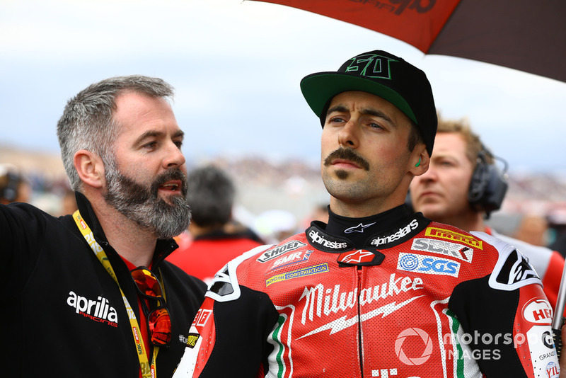 Phil Marron, Eugene Laverty, Milwaukee Aprilia