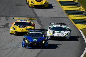#14 3GT Racing Lexus RCF GT3, GTD: Dominik Baumann, Kyle Marcelli, Philipp Frommenwiler, #63 Scuderia Corsa Ferrari 488 GT3, GTD: Cooper MacNeil, Gunnar Jeannette, Daniel Serra