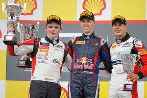 Podium: race winner Daniil Kvyat, MW Arden, second place Conor Daly, ART Grand Prix, third place Facu Regalia, ART Grand Prix