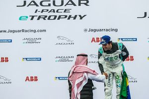 Second place Sérgio Jimenez, Jaguar Brazil Racing on the podium