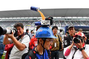 Fan with hat