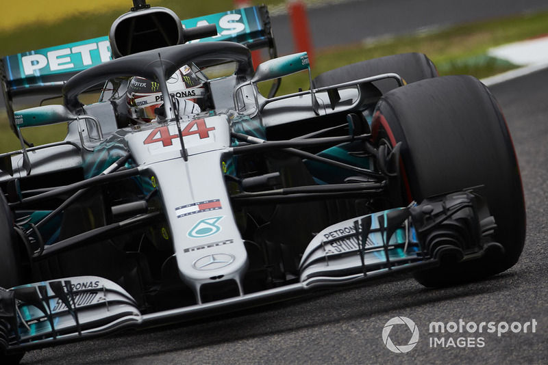 Hamilton was clearly enjoying Mercedes' pace advantage on Friday
