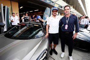 Fernando Alonso, McLaren, and NASCAR driver Jimmie Johnson