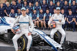 Sergey Sirotkin, Williams Racing and Robert Kubica, Williams at the Williams Team Photo