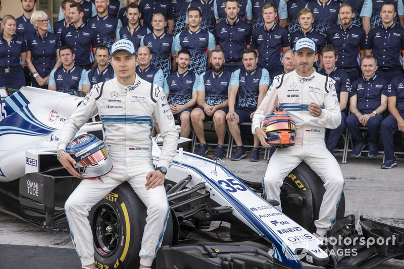 Sergey Sirotkin, Williams Racing y Robert Kubica, Williams