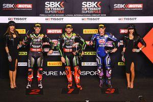 Pole: Tom Sykes, Kawasaki Racing, 2. Jonathan Rea, Kawasaki Racing, 3. Alex Lowes, Pata Yamaha