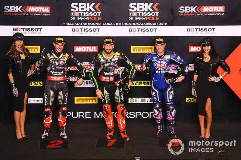 El poleman, Tom Sykes, Kawasaki Racing, Jonathan Rea, Kawasaki Racing, Alex Lowes, Pata Yamaha
