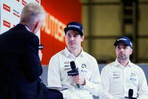 Rally driver Teemu Suninen and co driver Marko Salminen on stage