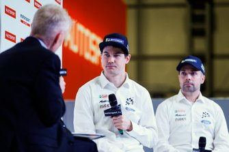 Rally driver Teemu Suninen and co driver Marko Salminen on stage
