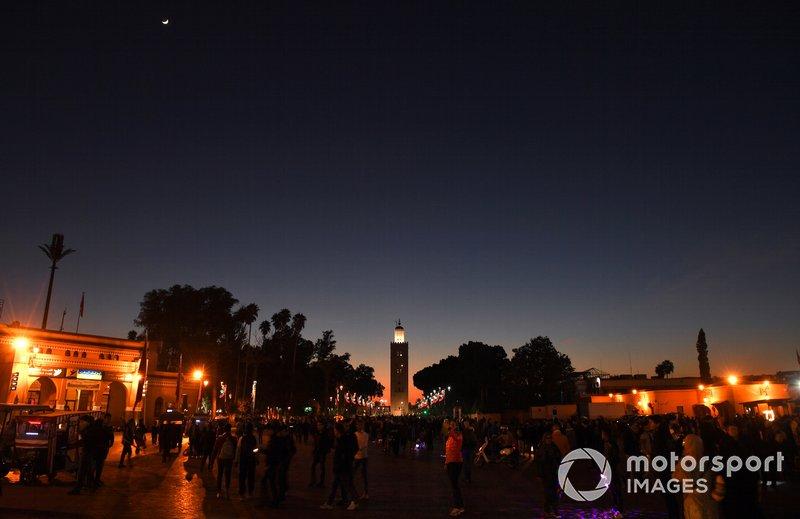 Suasana kota Marrakesh