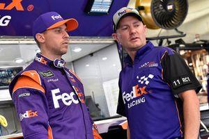Denny Hamlin, Joe Gibbs Racing, Toyota Camry FedEx Freight and Michael Wheeler