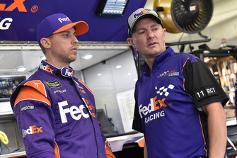 Denny Hamlin, Joe Gibbs Racing, Toyota Camry FedEx Freight and Michael Wheeler