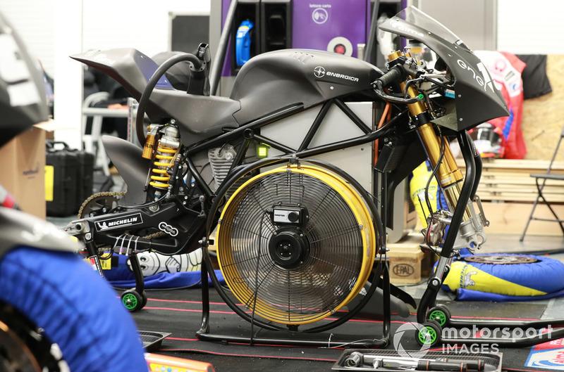 Detalle de la motocicleta de MotoE