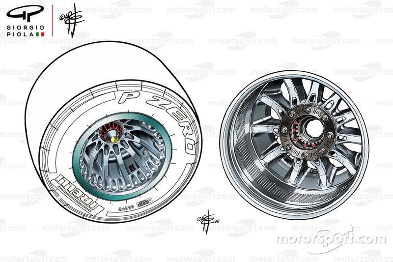 La rueda del Mercedes W09