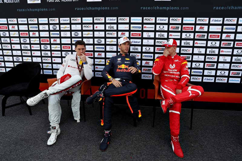 Loic Duval, Pierre Gasly et Mick Schumacher