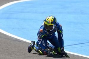 Sturz: Joan Mir, Team Suzuki MotoGP