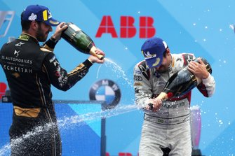 Jean-Eric Vergne, DS TECHEETAH, 3rd position, Lucas Di Grassi, Audi Sport ABT Schaeffler, 1st position, celebrate on the podium