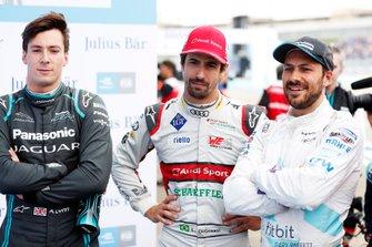 Алекс Линн, Jaguar Racing, Лукас ди Грасси, Audi Sport ABT Schaeffler, и Стоффель Вандорн, HWA Racelab