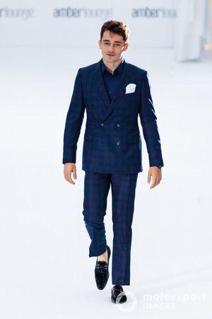 Charles Leclerc, Ferrari, at the Amber Lounge fashion show