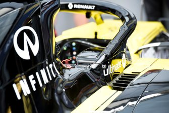 Renault R.S.19 cockpit and halo