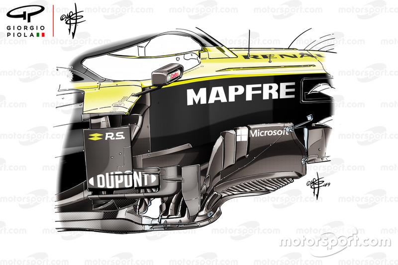 Renault F1 Team R.S.19, barge board