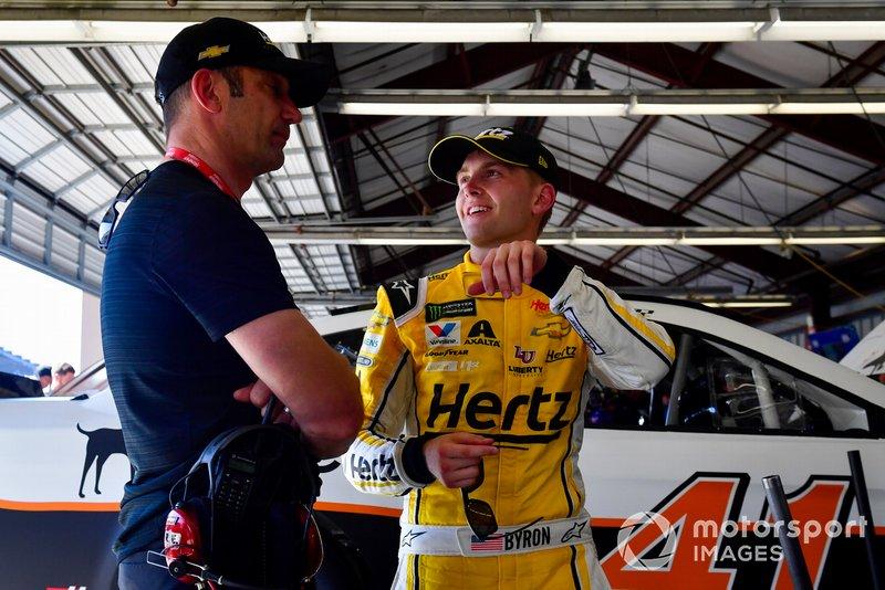William Byron, Hendrick Motorsports, mit Max Papis