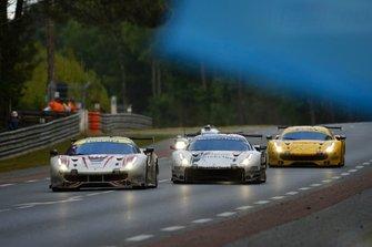 #70 MR Racing Ferrari 488 GTE: Motoaki Ishikawa, Olivier Beretta, Eddie Cheever, #62 Weathertech Racing Ferrari 488 GTE: Cooper MacNeil, Toni Vilander, Robert Smith