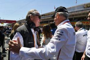 Mansour Ojjeh, co-owner, McLaren, with Dr Dieter Zetsche, CEO, Mercedes Benz