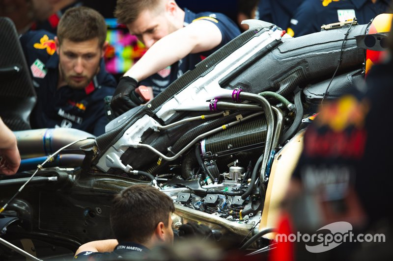 Red Bull Racing RB15 power unit and air intake