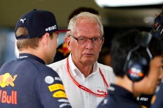 Helmut Markko, adviseur, Red Bull Racing en Max Verstappen, Red Bull Racing