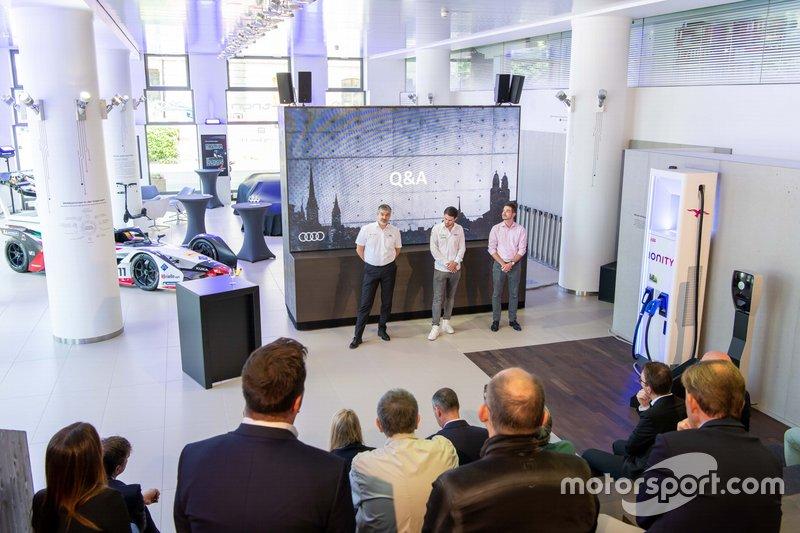 Dieter Gass, Audi Motorsport, und Daniel Abt, Audi Sport ABT Schaeffler