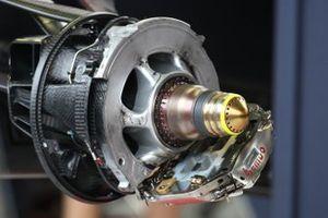 Detalle técnico de las pinzas de freno del Red Bull
