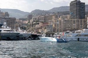 Yachts and a motorboat in the harbour