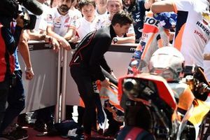 Marc Marquez, Repsol Honda Team, changing suits