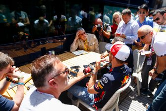 Pierre Gasly, Red Bull Racing speaks with the media