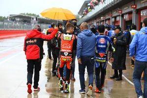 Alvaro Bautista, Aruba.it Racing-Ducati Team, Sandro Cortese, GRT Yamaha WorldSBK leaving briefing