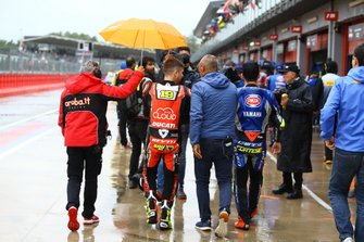 Alvaro Bautista, Aruba.it Racing-Ducati Team, Sandro Cortese, GRT Yamaha WorldSBK leaving briefing