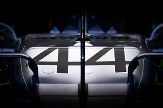 The nose of the Mercedes AMG F1 W10 of Lewis Hamilton