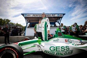 Il vincitore del Pole Award Colton Herta, Harding Steinbrenner Racing Honda