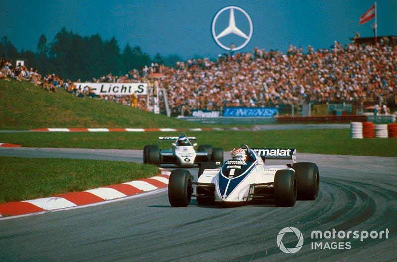 Nelson Piquet, Brabham BT50 lidera a Keke Rosberg
