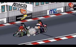 El incidente entre Verstappen y Hamilton en Mónaco, por MiniDrivers
