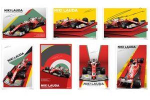 Poster in Erinnerung an Niki Lauda