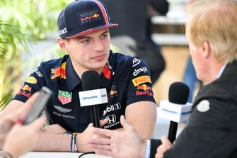 Max Verstappen, Red Bull Racing speaks to the press