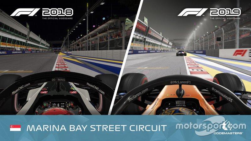 F1 2018 vs. F1 2019